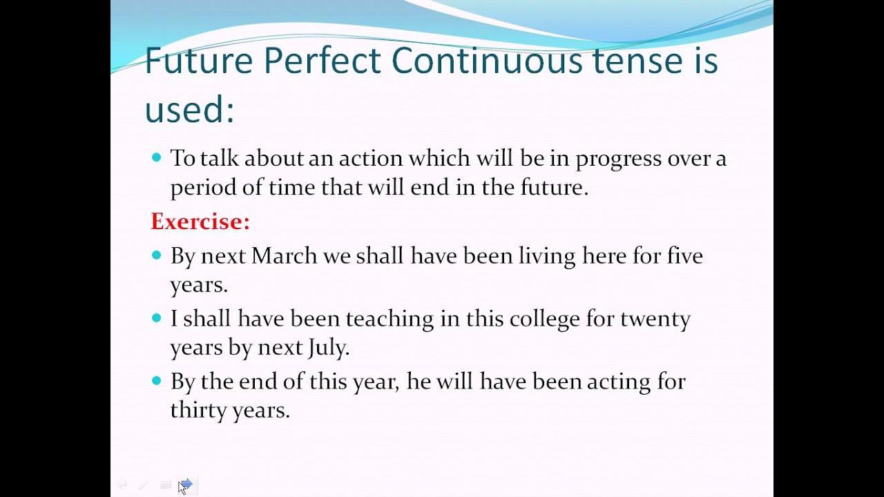 FUTURE PERFECT CONTINUOUS TENSE EPUB DOWNLOAD