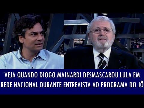 Veja Quando Diogo Mainardi Desmascarou Lula Em Rede Nacional Durante Entrevista Ao Programa Do Jô