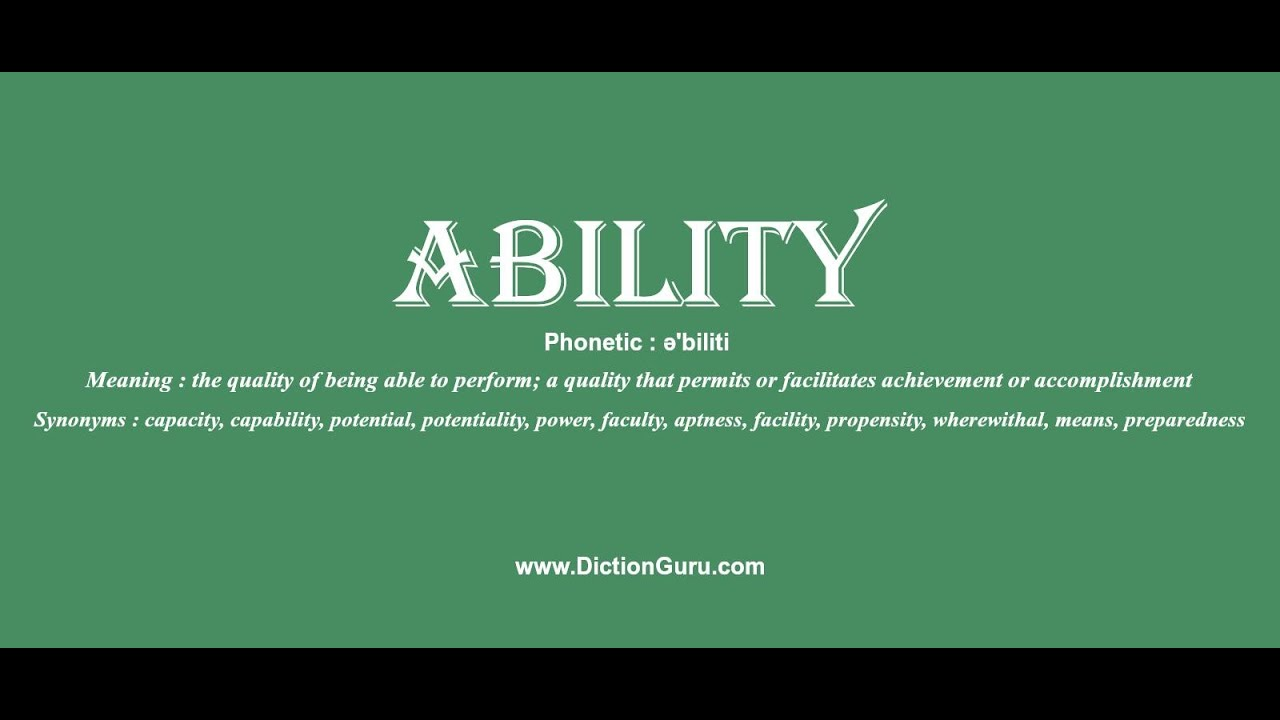 ability: How to pronounce ability with Phonetic and Examples