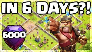 CAN IT BE DONE? 6 Days to 6000 Trophies - Clash of Clans Challenge!