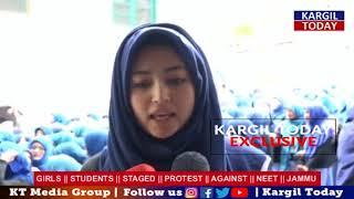 GIRLS || STUDENTS || PROTEST || AGAINST || NEET || JAMMU