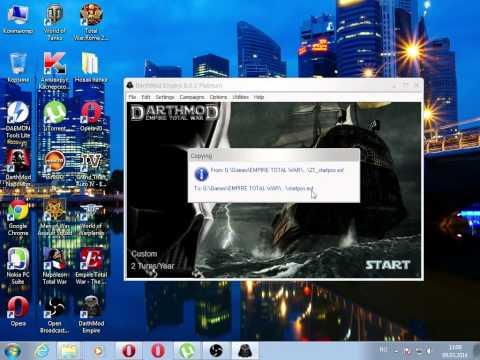 Empire Total War DarthMod V8.0.1 Platinum (установка и настройка мода)