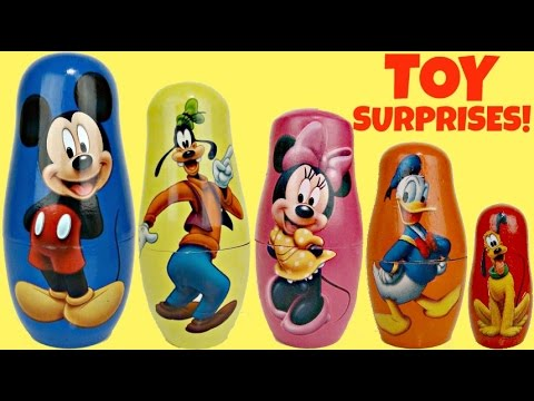 Thumbnail: Disney MICKEY MOUSE Clubhouse Friends, Nesting dolls, Stacking Cups, Learn Colors Toys / TUYC