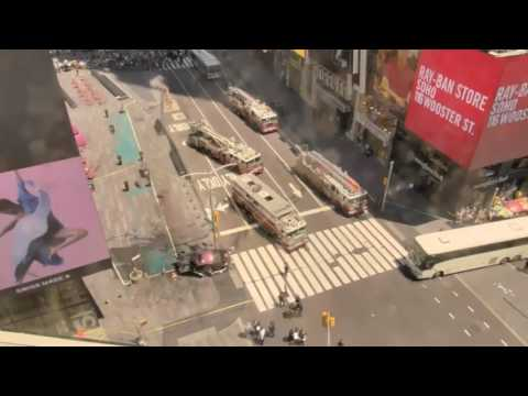 Terrorist attack in New York  May 18, 2017 video from the webcam online