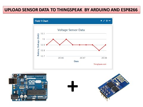 UPLOAD SENSORS DATA TO THINGSPEAK BY USING ARDUINO AND ESP8266