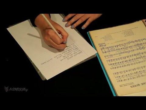 ASMR Sorting Piano Sheet Music into Binders (no talking - kind of unintentional ASMR)