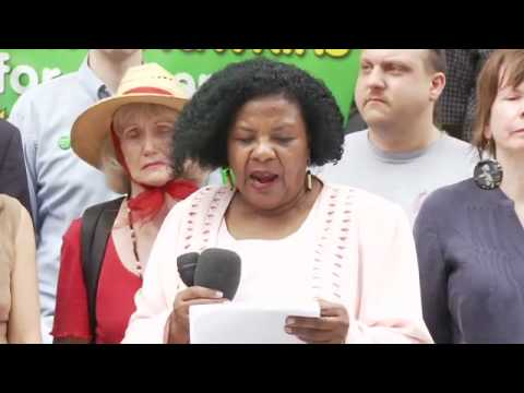 Colia Clark-Green Party of NY US Senate-Press Conference