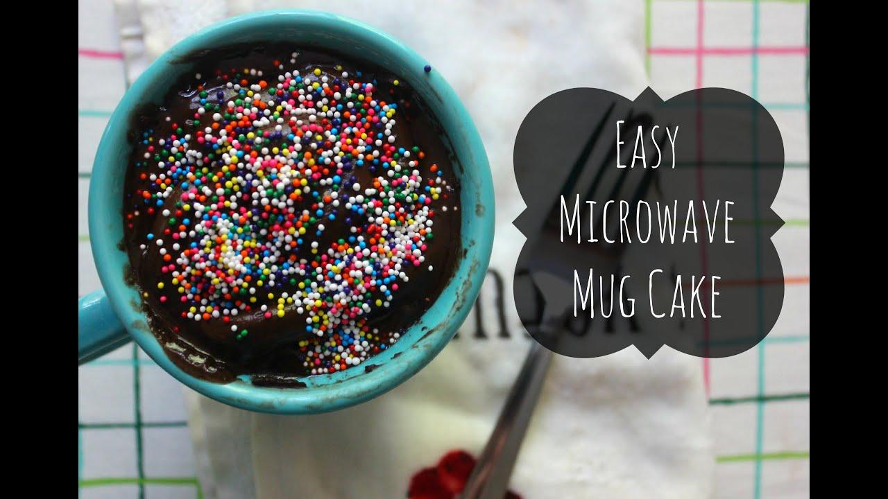 Easy Microwave Mug Cake Recipe - YouTube