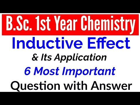 Inductive Effect  BSc 1st year organic chemistry  Study With Alok