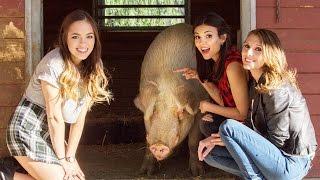 Victoria Justice Makes Hilarious Animal Voices with Claudia Sulewski