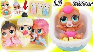 Video LOL Surprise Dolls + Lil Sisters Babysat New Pearl Doll and gets Baby Nursery Bathroom! download MP3, 3GP, MP4, WEBM, AVI, FLV Maret 2018