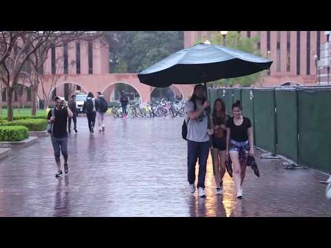 Making Strangers Days with a Giant Umbrella!