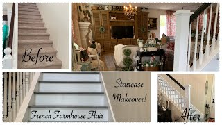 DIY Staircase Makeover ~ Before & After