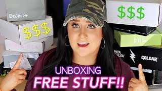 HUGE PR UNBOXING HAUL | FREE MAKEUP BEAUTY GURUS GET $$$