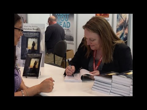 Author Christina Bauer Signs Galley Copies of WOLVES & ROSES Mp3