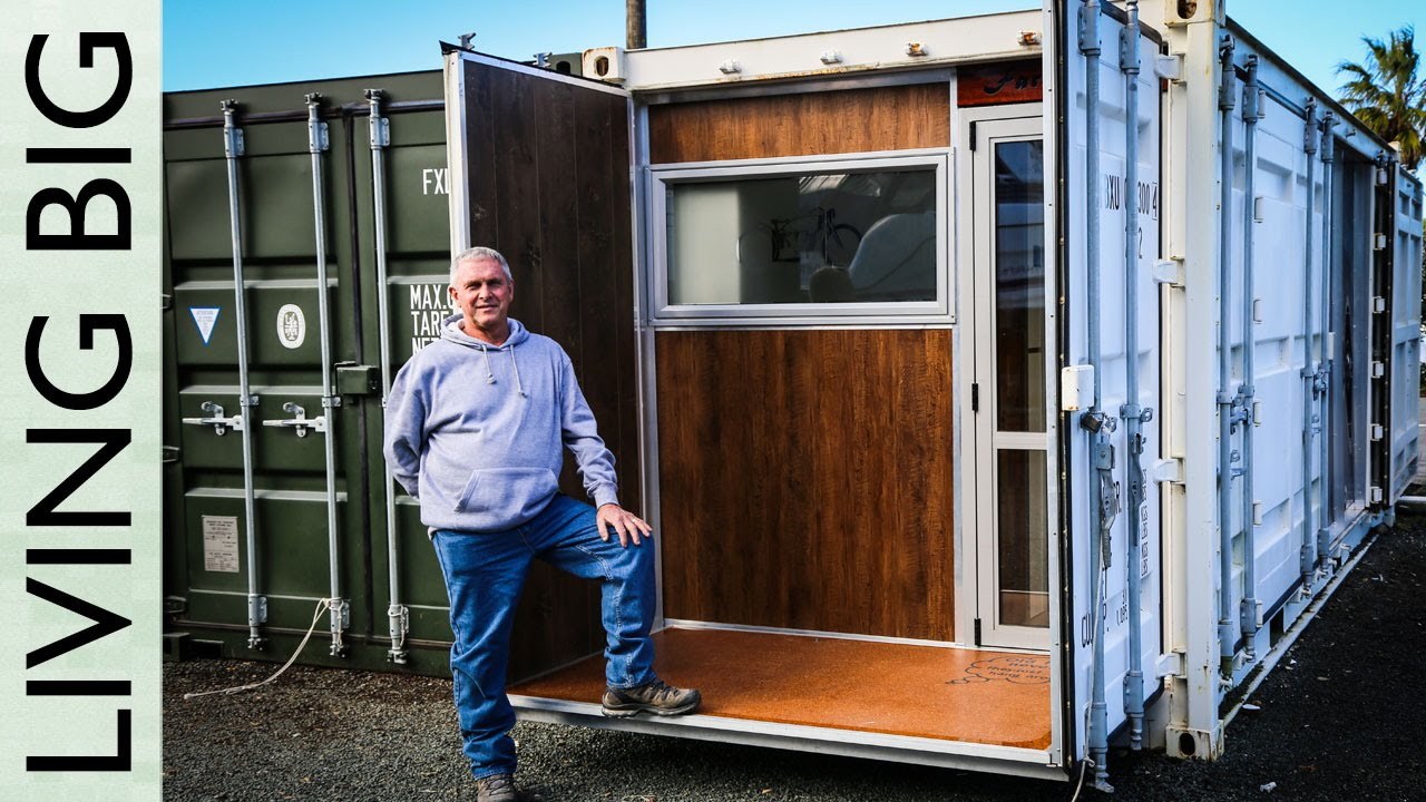 boat builder's incredible 20ft shipping container home - youtube