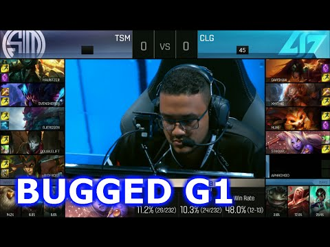 TSM vs CLG  - BUGGED Game 1 (Aurelion Sol Bug) | Semi Finals S6 NA LCS Summer 2016 PlayOffs