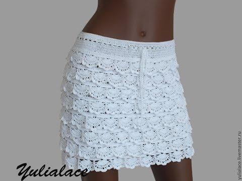 a2363a8e376 Белая ЮБКА Крючком - 2019   White Skirt Hook   Weiß Rock-Haken - YouTube