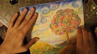 Cheap Oil Pastels Impressionistic Landscape Painting