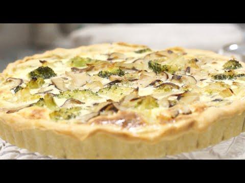 Programa Portfólio 30 06 2018 - Receita da Daguia: Torta de Cogumelos e Brócolis