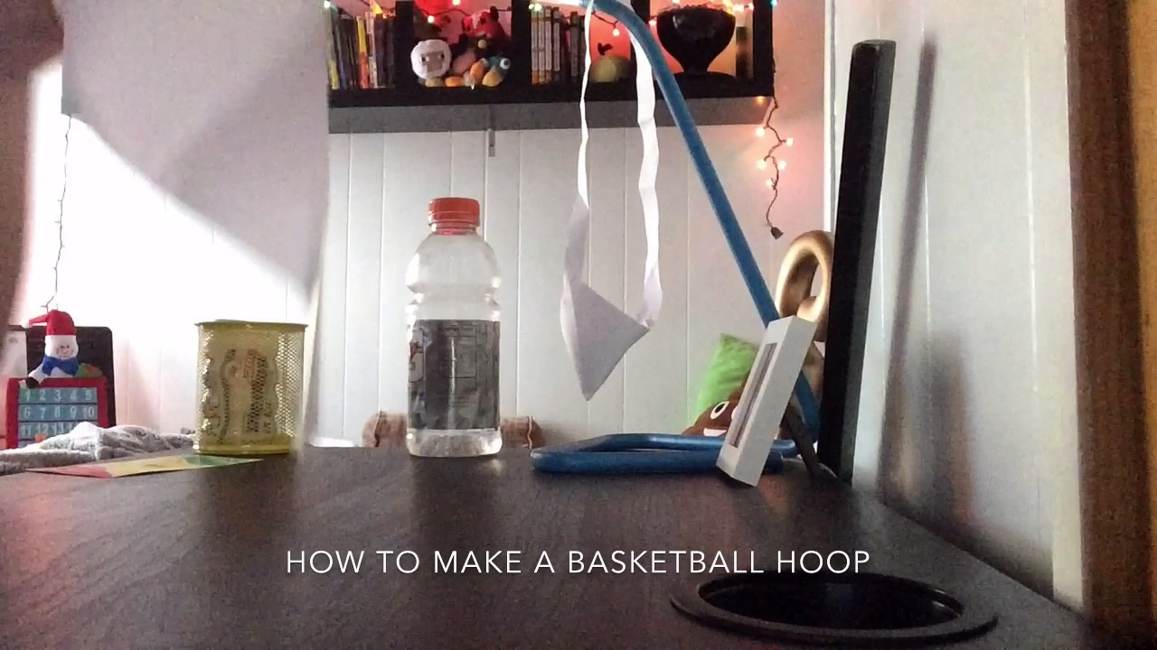 How to make a basketball hoop youtube for How to build a basketball goal