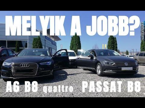 Melyik a jobb? AUDI A6 C7 vagy VW PASAT B8 - dupla autó bemutató