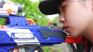 Nerf Guns War: Battle Ground Between Couple Police SEAL TEAM Special With Leader Dangerous Enemies
