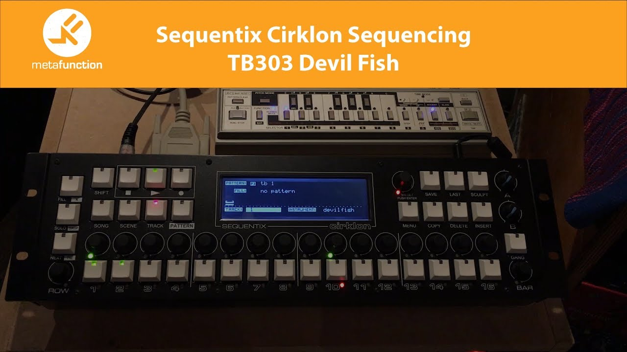 Sequentix Cirklon Sequencing Roland TB303 with Devil Fish Mod