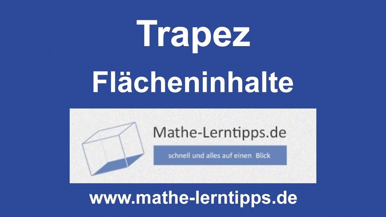 trapez fl cheninhalt berechnen mathe. Black Bedroom Furniture Sets. Home Design Ideas