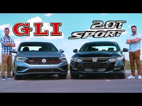 2019 VW Jetta GLI vs Honda Accord 2.0T Sport // Performance Sedans On A Budget