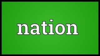 Nation Meaning