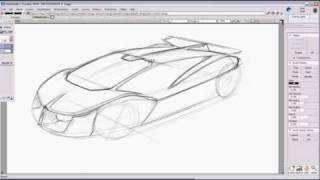 Car Design Sketch Tutorial For A Supercar Using Autodesk Alias Studiotools