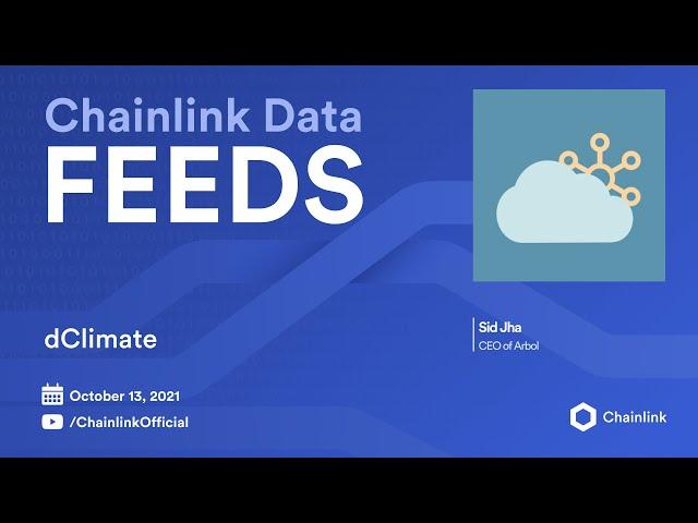 Chainlink Live | dClimate: Blockchain Climate Data for InsurTech
