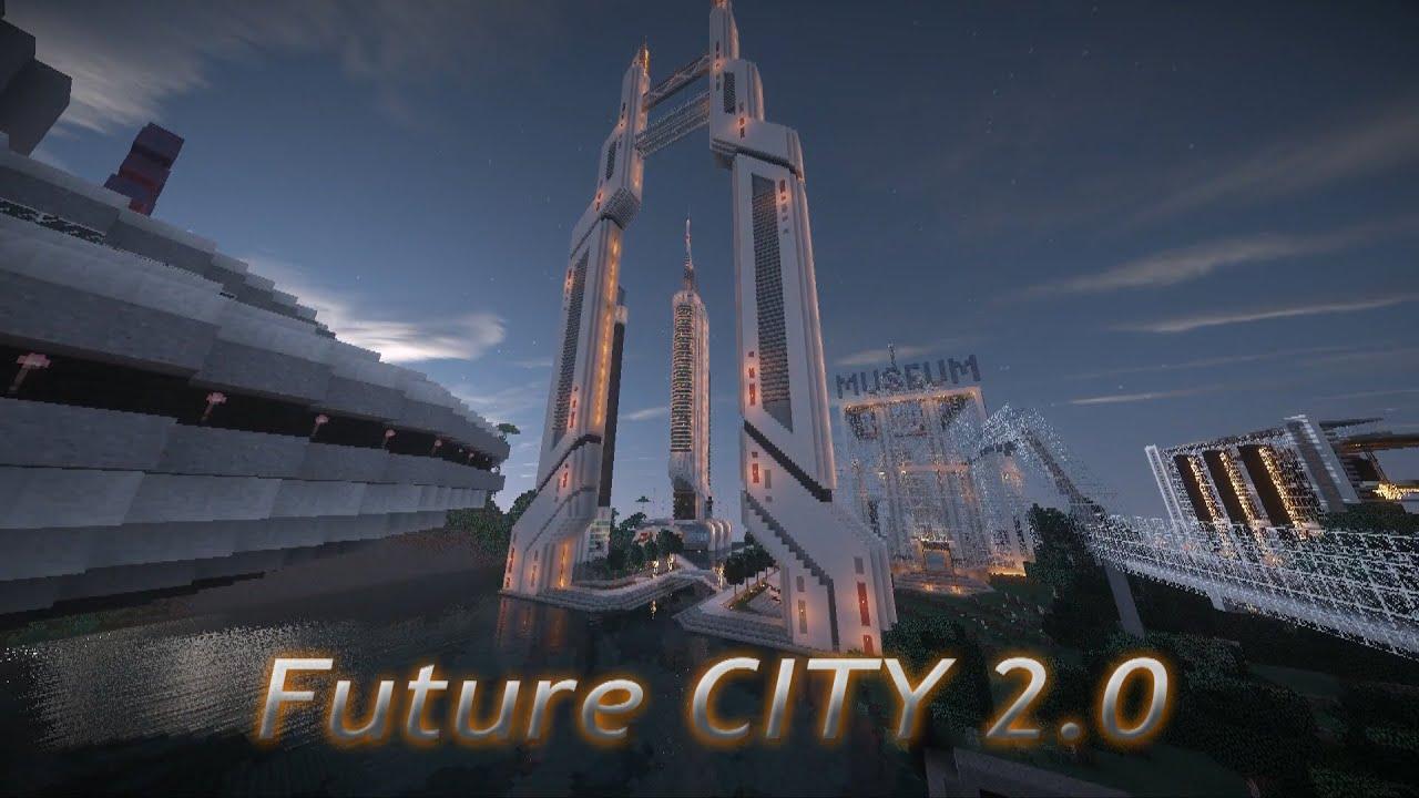 3d Wallpaper Futurist Minecraft Future City 2 0 Peacetime Futuristic City