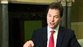 Nick Clegg says cunt during an interview