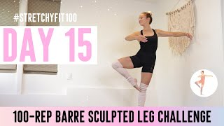 GET SCULPTED LEGS & THIGHS IN 30 DAYS CHALLENGE! Day 15: 100  Shivering Flamingo! 🦩#StretchyFit100