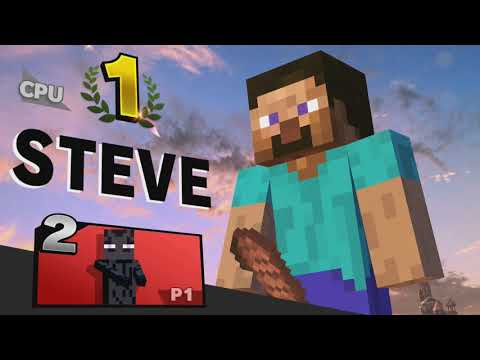 Steve Victory Screens   Super Smash Bros. Ultimate