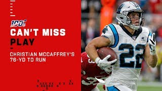 Christian McCaffrey Turns on the Afterburners for a 76-Yd TD