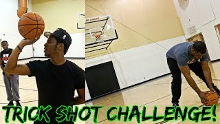YOUTUBER IRL TRICK SHOT CHALLENGE WITH iMAV JUICE AND KOUP! 360 LAYUPS, HALF COURT SHOTS, AND MORE!