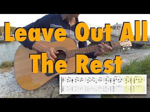 Linkin Park - Leave Out All The Rest (fingerstyle cover, tabs, lyrics)