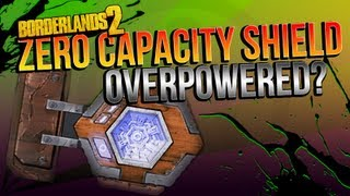 BORDERLANDS 2 | The Rough Rider: Zero Capacity Shield OVERPOWERED?