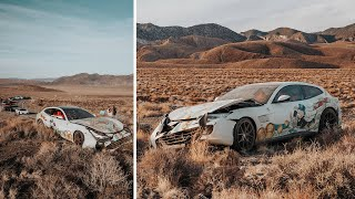 Ferrari owner crashes new car in Nevada desert
