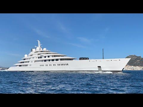 Superyacht Azzam departing Gibraltar