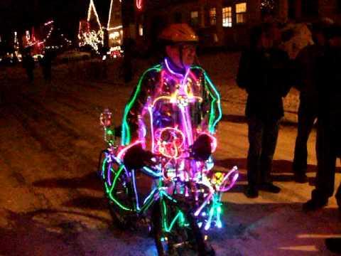 Bicycle of Lights on Peacock Lane, SE Portland