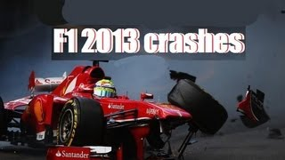 F1 2013 - Crashes Compilation. GAMEPLAY PC | ULTRA | [FULL HD1080p]