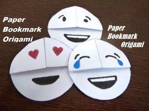 DIY - Easy Emoji DIY Bookmark Corners (Paper Crafts) | Paper Bookmark Origami