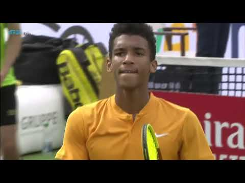 Felix Auger-Aliassime vs Dustin Brown: Great Shots & Match P