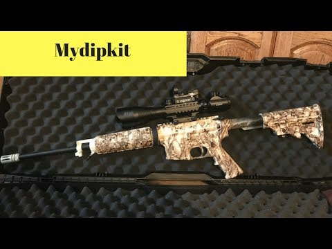 First time Hydro dip AR 15 using MyDipKit