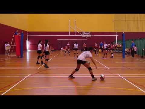 2018 A Div National Quarter Final Girls HCI vs AJC 3-0 set 2