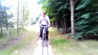 Railbike Test Run At Barnards Farm